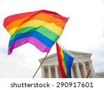 Gay Pride Flags At The U.s....