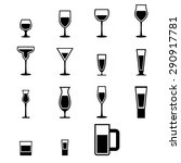 set of  silhouette glass icons... | Shutterstock .eps vector #290917781