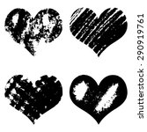 hand drawn sketch hearts for... | Shutterstock .eps vector #290919761
