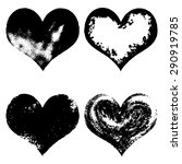 hand drawn sketch hearts for... | Shutterstock .eps vector #290919785