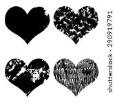 hand drawn sketch hearts for... | Shutterstock .eps vector #290919791