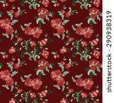 beautiful  floral seamless... | Shutterstock .eps vector #290938319