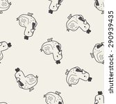 chicken doodle seamless pattern ... | Shutterstock .eps vector #290939435