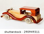 Wooden Toy Car Vintage Style