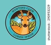 deer illustration  deer hunting ... | Shutterstock .eps vector #290953229