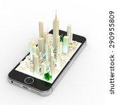business  3d  street smartphone   Shutterstock . vector #290955809