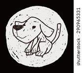 dog doodle | Shutterstock .eps vector #290965331