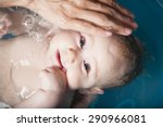 six months age blonde baby body ... | Shutterstock . vector #290966081