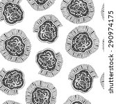 seamless pattern with doodle... | Shutterstock .eps vector #290974175