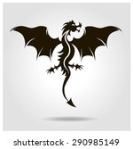 vector black dragon with wings... | Shutterstock .eps vector #290985149