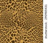 leopard seamless pattern design ... | Shutterstock .eps vector #290985431
