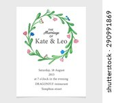 invitation template with... | Shutterstock .eps vector #290991869