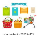 happy shopping concept. only... | Shutterstock . vector #290994197
