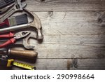 hammer  screwdriver  wrench ... | Shutterstock . vector #290998664