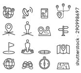 map icons and location on... | Shutterstock .eps vector #290998697