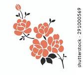 flower design elements vector | Shutterstock .eps vector #291000569