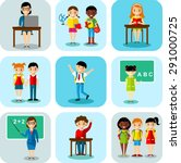 flat design learning concept... | Shutterstock .eps vector #291000725