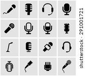 vector black microphone icon... | Shutterstock .eps vector #291001721