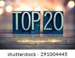 the word top 20 written in... | Shutterstock . vector #291004445