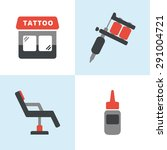 simple flat tattoo icons... | Shutterstock .eps vector #291004721