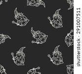 wizard doodle seamless pattern... | Shutterstock .eps vector #291007511