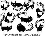 cat | Shutterstock .eps vector #291013661