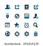 communication interface icons   ... | Shutterstock .eps vector #291014129