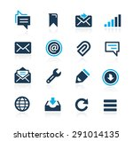 messages icons    azure series | Shutterstock .eps vector #291014135