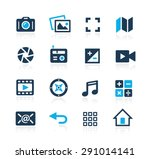 media interface icons    azure... | Shutterstock .eps vector #291014141