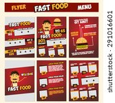 fast food menu   flyer ... | Shutterstock .eps vector #291016601