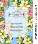 spring delight collection.... | Shutterstock .eps vector #291023375