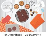 cooking pastries  preparation... | Shutterstock .eps vector #291039944