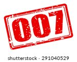 007 red stamp text on white