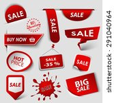 collection web red pointers...   Shutterstock .eps vector #291040964