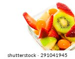fresh fruits salad in bowl on... | Shutterstock . vector #291041945