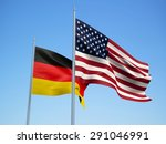german and american flags... | Shutterstock . vector #291046991