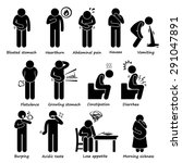 indigestion symptoms problem... | Shutterstock .eps vector #291047891