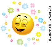 smiling ball being happy and... | Shutterstock .eps vector #29105245