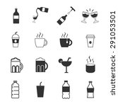 drink icon set | Shutterstock .eps vector #291053501