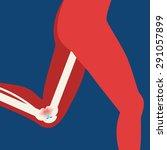 illustration of arthritis | Shutterstock .eps vector #291057899