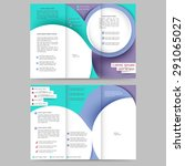 abstract colored brochure...   Shutterstock .eps vector #291065027