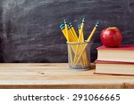 back to school background with... | Shutterstock . vector #291066665