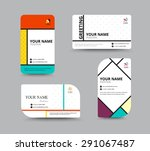 business card template. name... | Shutterstock .eps vector #291067487