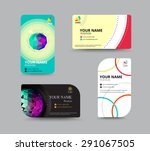 business card template. name... | Shutterstock .eps vector #291067505