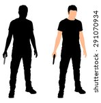 Man With Gun  Vector