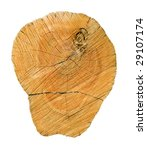 wooden cut on white background  ...   Shutterstock . vector #29107174