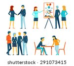 business people in different... | Shutterstock . vector #291073415