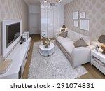 guest room modern style. 3d... | Shutterstock . vector #291074831