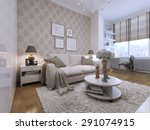 guest room with a beautiful and ... | Shutterstock . vector #291074915