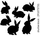 easter bunny silhouette | Shutterstock .eps vector #291075731